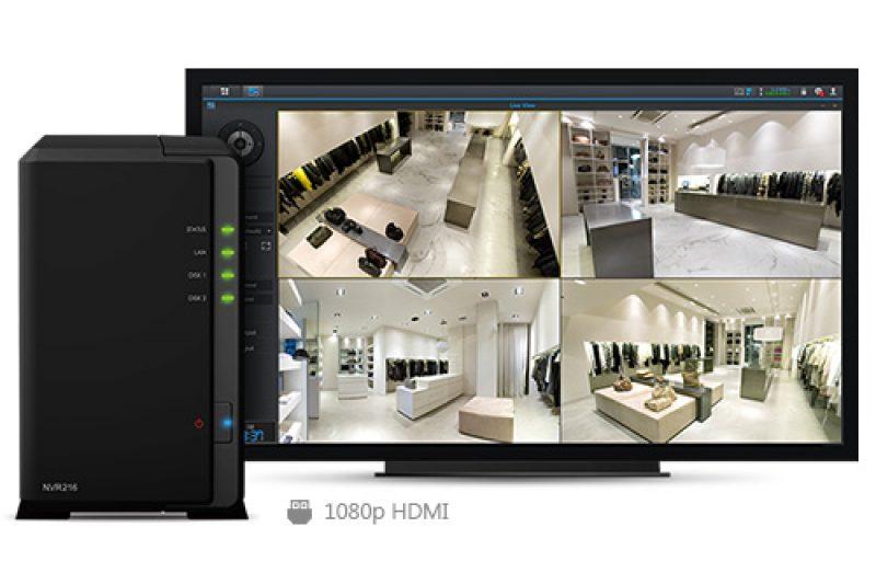 Synology NVR216 : enregistreur de vidéosurveillance IP