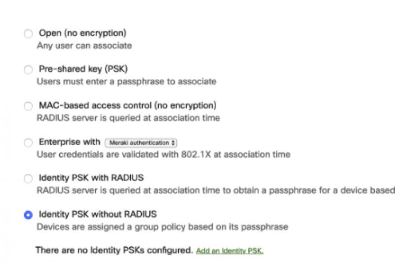 Cisco Meraki et l'iPSK sans serveur Radius.